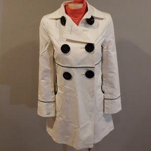 Soia & Kyo Trench Coat Jacket Peacoat Size Small